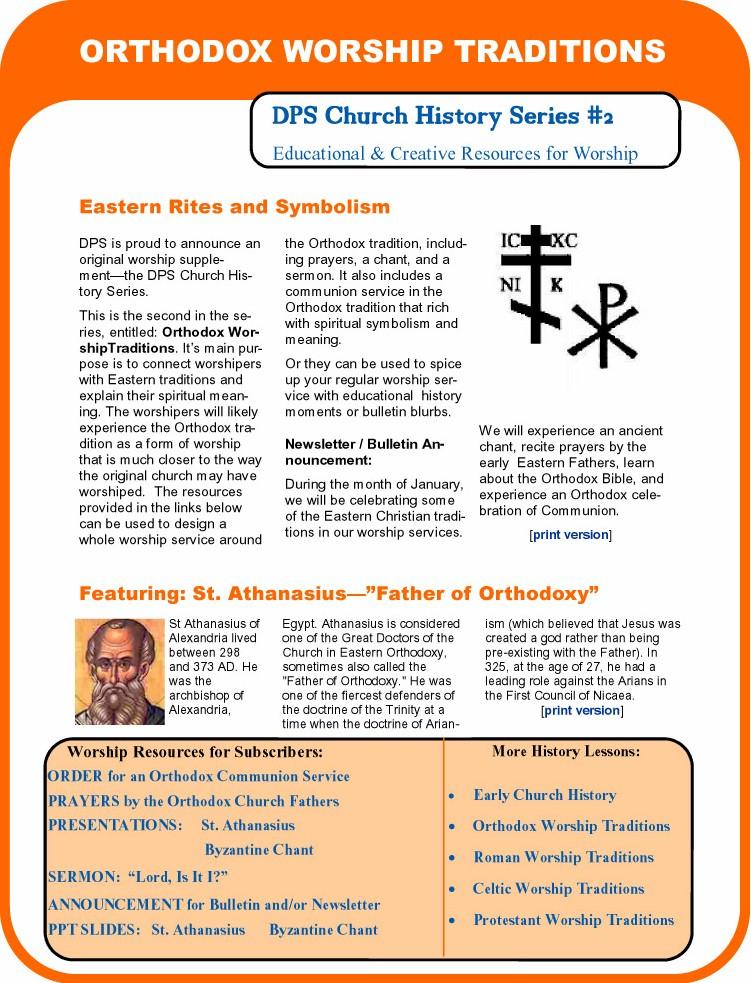 Orthodox Worship Traditions, DPS Church History Sermon Series 2